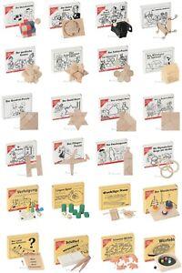 24x Mini-Knobelspiele - Mini-Holzpuzzle - Mini-Spiele - Adventskalender-Sparpack