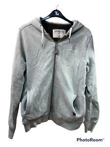 Schott Rancher Vintage Men Jacket Wool Inside Winter Grey Made In The USA Size L