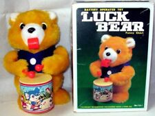 """AUTOMATE A PILES - OURS """"LUCK BEAR FUNNY CHIEF""""+ BOITE - VIDEO -MADE IN TAIWAN"""