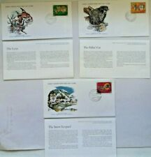 World wildlife fund WWF set 3 first day covers FDC 1979 Mongolia + cards