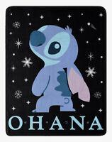 "Disney Lilo And Stitch Space Ohana Super Soft Plush Throw Blanket 48"" X 60"""