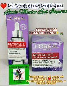 2X L'Oreal Revitalift Derm Intensives Acido Hialuronico Potente 50ML(FREE- 🚚🌟⚡