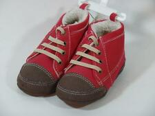New Boy's Old Navy Red Suede & Sherpa Fleece Boot Shoes Sz 5 ~ 18-24 Months