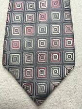 KENNETH ROBERTS MENS TIE PINK AND GRAY 3.75 X 61