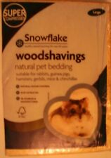 SNOWFLAKE NATURAL PET BEDDING,WOODSHAVINGS,SAWDUST, LARGE SIZE. PACK OF FOUR.