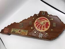 Vintage 1980s Lucky Strike American Tobacco Kentucky State Wooden Clock By Jim