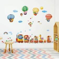 Wandsticker Reise der Tiere Eisenbahn Zug Wandtattoo Babyzimmer Safari Ballons