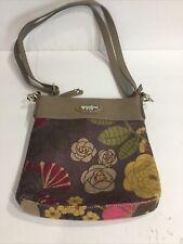 Spartina 449 Crossbody Purse Bag Double Strap, Natural Linen & Leather, EUC!