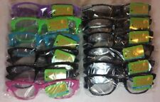 Pixelated Clear Lens Sunglasses, 1 Dozen, New
