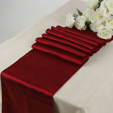"""Satin Table Runner 10 pcs 12""""X108"""" Wedding venue party decoration - Apple Red"""