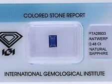 natürlicher 0,48 Karat Saphir Baguette blue IGI Expertise