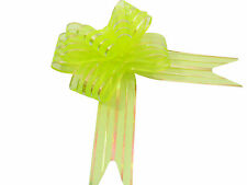 Yellow Butterfly Bow Large x 10 Organza