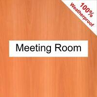 Meeting room door sign or sticker 5505KW Easy apply stickon stick-on door