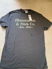 NEW Men's Heather Gray Abercrombie & Fitch Graphic T-Shirt-Size M