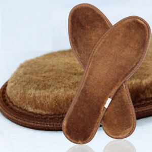 Fur Thicken Wool Insoles Winter Thermal Imitation Cashmere Sheepskin Shoe Pads