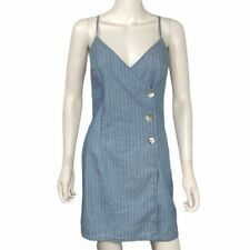 Topshop NEW Blue White Striped Wrap Dress Size 4