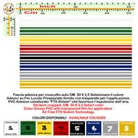 Adesivi cruscotto strisce prespaziati dashboard sticker pvc 1PZ. Cm. 50x3.5