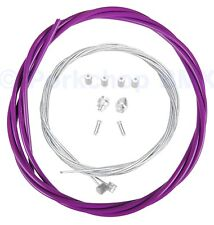 Bicycle 5mm LINED brake cable housing and hardware kit BMX MTB - GRAPE (PURPLE)