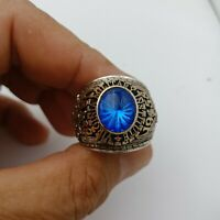 US Military Academy Virginia Class Rings 1958  , Sapphire Stone , 10k