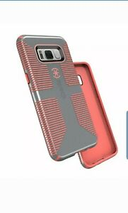 Speck Candyshell Grip Case Samsung Galaxy S8 Nickel Grey Warning Orange