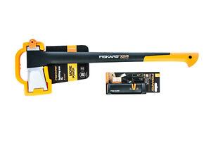 Universalaxt Spaltaxt Fiskars X25 AXT + Fiskars 120740 Xsharp Axtschärfer Set