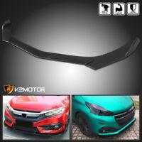 Universal Ford Honda BMW Black Front Bumper Lip Spoiler Splitter Body Kit 3PC