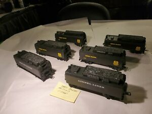 Lionel MPC 0/027 Gauge Lot Of 6 Non Whistling Coal Tenders! All VGC See Listing