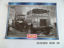 CARTE FICHE CAMION TRACTEUR CABINE AVANCEE SCAMMEL CRUSADER 1978