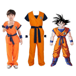 Dragon Ball Z Super Saiyan Goku Son Gokou Turtle senRu Kids Boys Costume Cosplay
