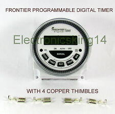 Frontier Digital Timer Programmable Time Switch TM-619-2-H- Made in Taiwan 4-PIN
