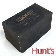 NIKON EMPTY BOX/CASE ONLY FOR VINTAGE 1950s NIKON NIKKOR-Q.C f/3.5 135mm LENS