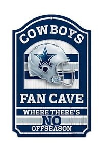Dallas Cowboys 11x17 Licensed NFL Wood Football Fan Cave Sign