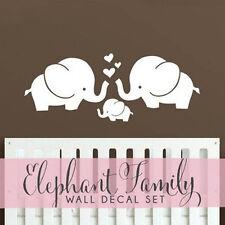 Wall Decal Elephant Family Wall Art for Nursery - Elephant Family Stickers
