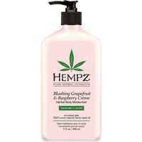 Hempz Grapefruit/Raspberry Herbal Full Body Moisturizer AFTER TAN Tanning Lotion