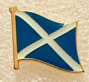 Scottish Flag Enamel Lapel Pin Badge/Brooch Scotland St Andrew's Cross Saltire