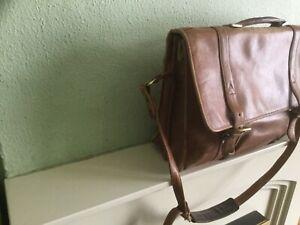 Large Hidesign by Radley tan leather briefcase work school laptop bag
