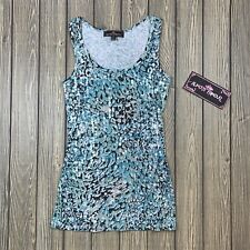 almost famous womens medium sleeveless scoop neck sequin tank top