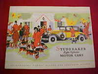 1930 ORIGINAL STUDEBAKER EIGHT 8 CYLINDER BROCHURE DEALER SALES LIT PROSPEKT 30