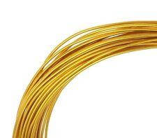 Aludraht 5M / 1,5 mm Gold Aluminium Biegedraht Schmuckdraht Drähte BETS C95