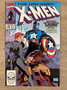 Uncanny X-men #268 Jim Lee Wolverine Black Widow Captain America Key VF-