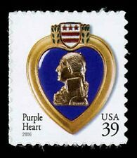 2006 39c Purple Heart, The Medal for the Combat Wounded Scott 4032 Mint F/VF NH