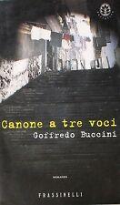 CANONE A TRE VOCI  Buccini  Frassinelli