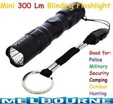 1x LED Black Mini Portable Bright Light Flashlight Aluminum Hand Torch Lamp AA #