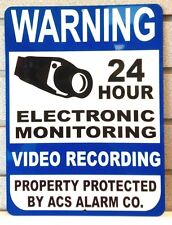Metal Warning Security Alarm Company Business Home Video Surveillance Signs