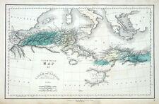 NORTH AFRICA, LIBYA, TUNISIA, ALGERIA Gall & Inglis original antique map c1850