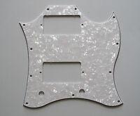 SG Standard Full Face Guitar Pickguard Scratch Plate White Pearl 3 Ply w/ Screws