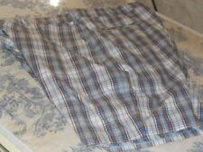 Men's Blue, Brown & White Plaid Bermuda Shorts