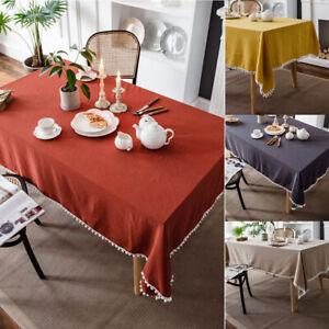 Rectangle Tablecloth Cotton Table Cloth Cover Dinner Kitchen Wedding Home Decor