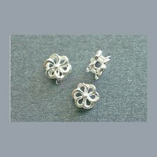 925 Sterling Silver Flower Spacer 6mm 4pc #51012