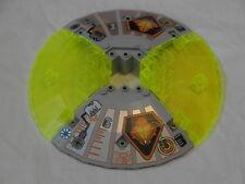 LEGO Spazio-UFO base in grigio e Trans-Neon Yellow (4 x 30117)